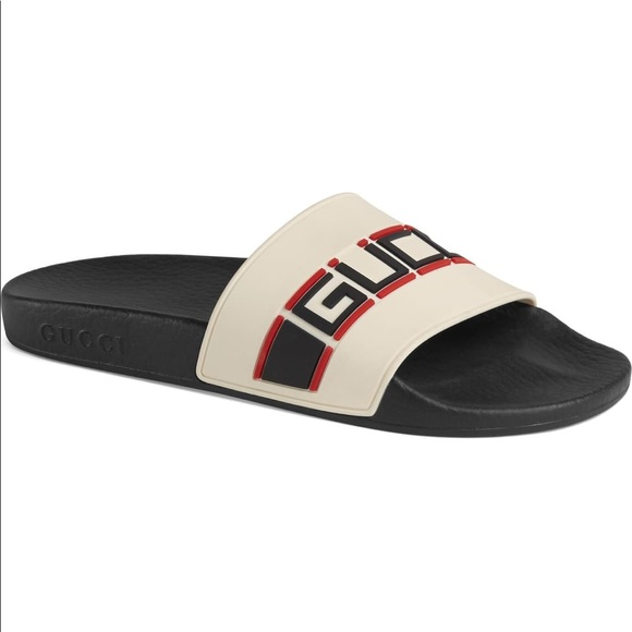 7e526a942 Gucci Shoes   Pursuit Logo Slide Sandal Size 7   Poshmark